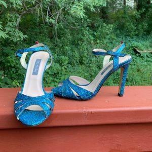 SJP Sarah Jessica Parker texture glitter sandals